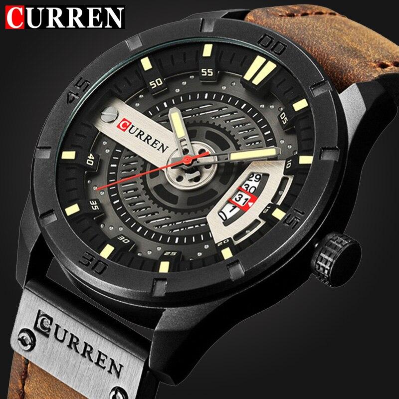 Armee Militär Sport Quarzuhr männer Top luxusmarke lederband Wasserdicht Armbanduhr Männliche Uhr Designer