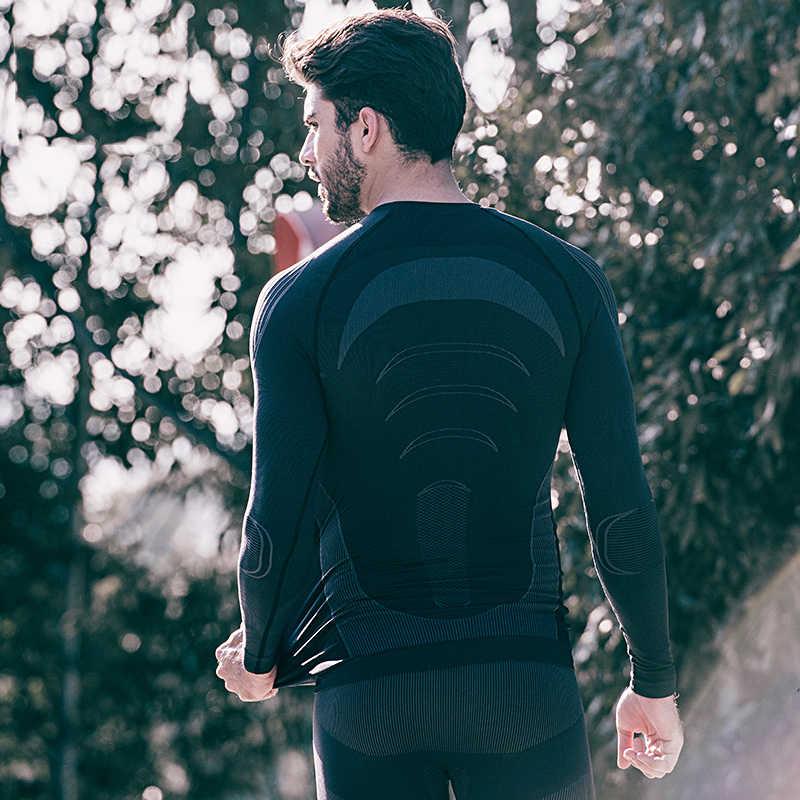 Homens Camada De Base de Ciclismo Santic Outono Inverno de Manga Longa Camada de Base Térmica Underwear Esporte Ao Ar Livre Correndo Aptidão Ropa ciclismo