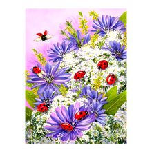 ladybirds Flowers plants Diamond Painting floral ladybug Round Full Drill 5D Nouveaute DIY Mosaic Embroidery Cross Stitch gifts