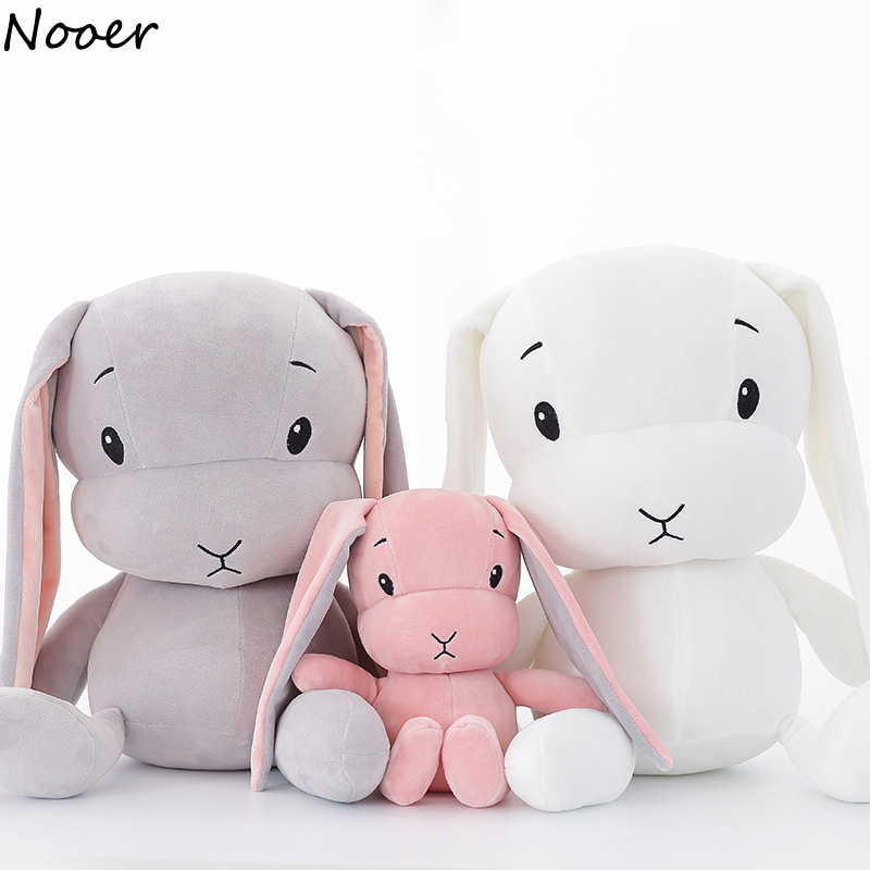 Nooer Lovely Super Soft Rabbit Plush Toys Baby Appease Doll Rabbit Sleeping Doll Best Gift For Kids Children super cute plush toy dog doll as a christmas gift for children s home decoration 20