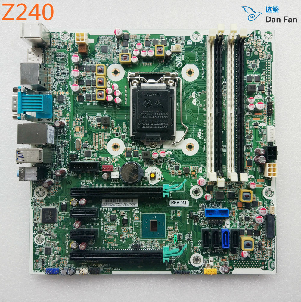 US $140 6 5% OFF|837345 001 For HP Z240 SFF Desktop Motherboard 795003 001  837345 601 LGA1151 Mainboard 100%tested fully work -in Motherboards from