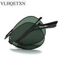 Womens Sunglasses Brand Designer Folding Aviator Sun Glasses Polarized Mens Sunglass Rayed Vintage Driving Lentes De