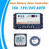 EPever Dual Battery Solar Charge Controller 10A Duo-battery Regulator with Remote LCD Meter MT-1 Meter-1 EPsolar EPIPDB-COM