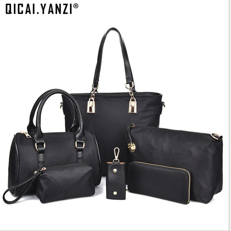 2017 6pcs/set Ladies Women Messenger bags Big Bag Nylon Handbags Small packets Personality Clutch High Quality P492 hmc492lp3e 492 qfn16 high quality