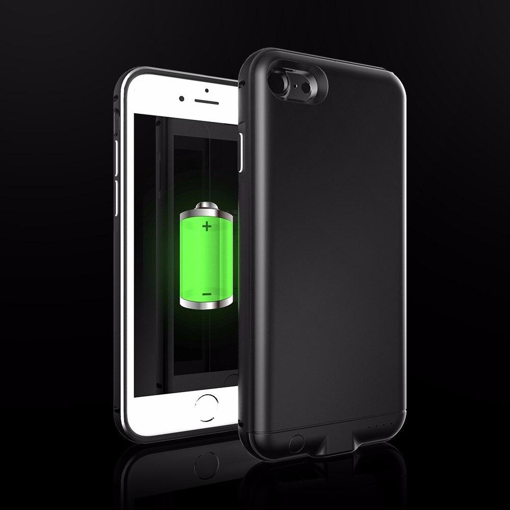 imágenes para Cáscara del metal Ultra delgado Para el iphone 7/7 Plus Caso Del Cargador de Batería Caso de la energía Para el iphone 6 6 S/6 6 s plus Caso Banco de la Energía Inteligente