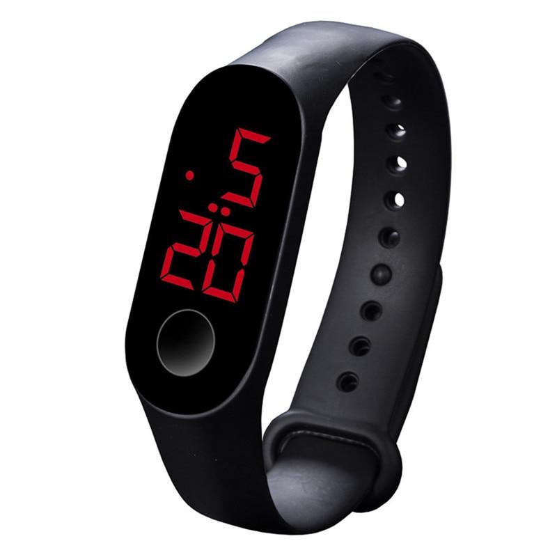 LED Electronic Sports Luminous Sensor Watches Fashion Men And Women Watches Man Woman Casual Watch Clock Digital Lovers' Watch 1