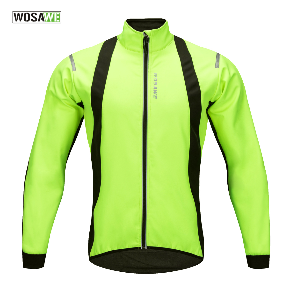 WOSAWE 2018 Windproof Cycling Jacket Winter Warm Up Bicycle Clothing Water Repellent Front Sports Coat Thermal MTB Bike Jersey