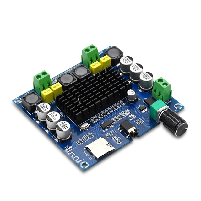 XH-A104 Bluetooth 4.1 TPA3116 digital Power amplifier board 2x50W Stereo AMP Module Support TF Card AUX