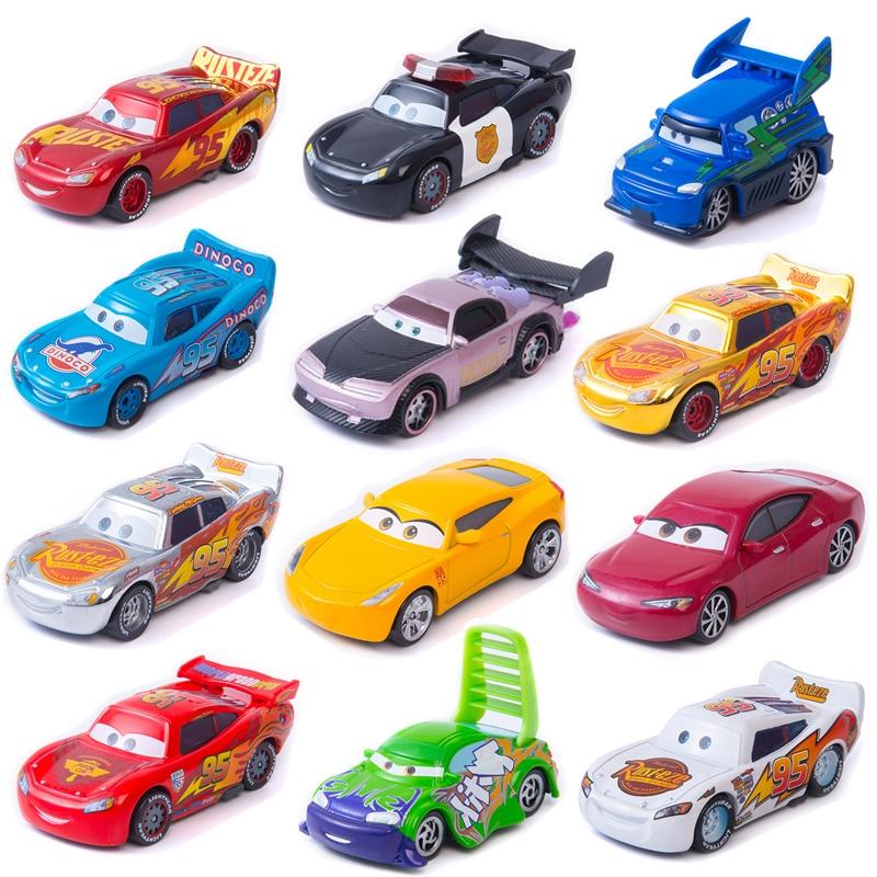 Disney Pixar Cars 3 The New Lightning McQueen Jackson Storm Ramirez Mater 1:55 Diecast Metal Alloy Model Car Toy Kids Gift