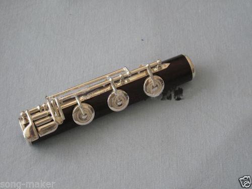 New flute 17 hole Open silver  Plated Key E key High quality ebony wood #5 new color 17 open hole purple flute e key case