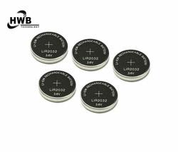 5x LIR2032 Wiederaufladbare Lithium Li-Ion Batterien 3,6 V 40 mAh Taste Knopfzellen Batterie Für Uhr-rechner Kostenloser Versand