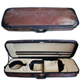 Full Size 4/4 violin case oblong shaped hard case in Crocodile Faux leather