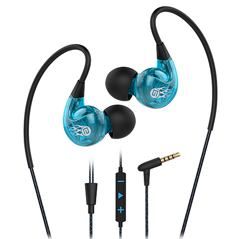XY1811 Sports Earphones Anti-Drop Running Earphone Stereo Bass Hook Earbuds with Microphone&volume Control Portable Jant