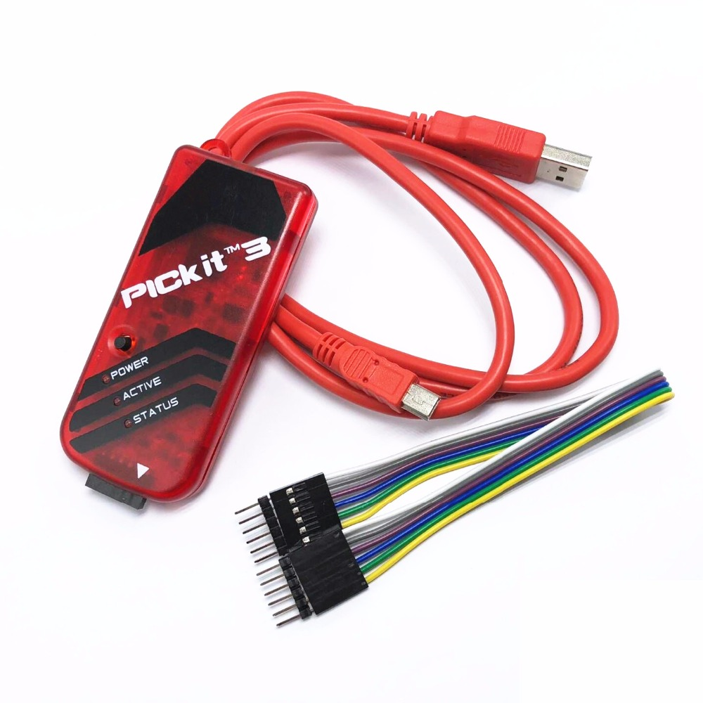 5sets//lot pickit3 PIC programmer pickit 3 PIC emulator debugger KIT3 stronger than ICD2 KIT2 steady