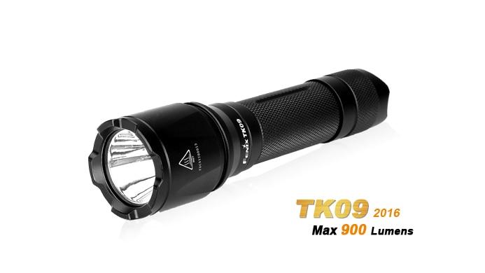 New Arrival Fenix TK09 2016 Edition 900 Lumens High performance Tactical Flashlight in Pocket Size