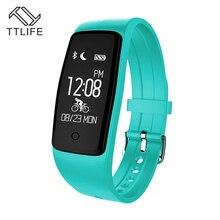 TTLIFE Новый Bluetooth Smart Браслет S1 монитор сердечного ритма SmartBand фитнес-трекер Шагомер Facebook браслет для IOS Android