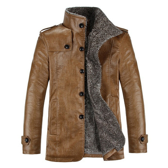 Best selling PU Leather Jacket Winter Jackets Men's Coats ...