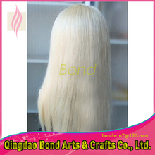 8A Gluless Full Lace Human Hair Wigs Blonde 613 Brazilian Virgin Hair Straight Lace Front Human Hair Wigs for Women