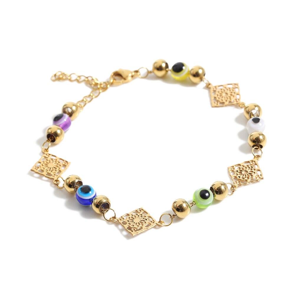 TL hecho a mano oro Vintage rombo pulsera tradicional Rosa brazalete mujeres Pulseras pulsera brazalete novia boda brazalete conjunto