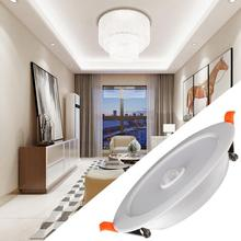 LED 12W AC85-265V Ceiling Light Human Body Sensor Recessed Lamp For Home Indoor