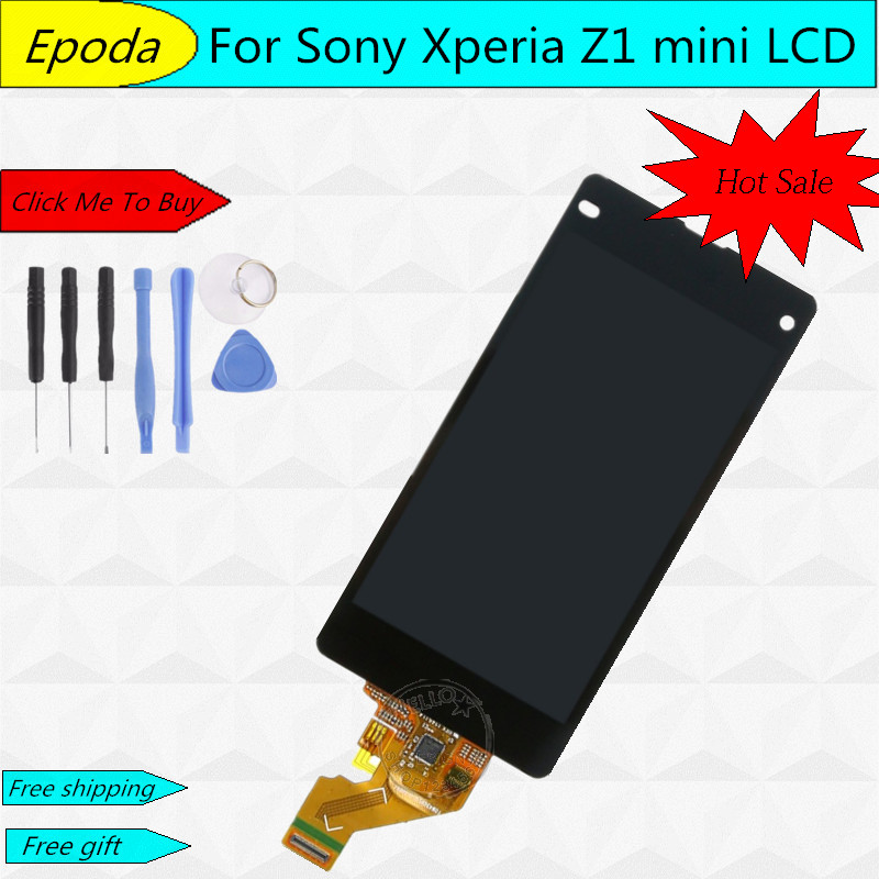 AAA Quality For Sony for Xperia Z1 Compact M51w Z1 Mini D5503 LCD Display With Touch Screen Digitizer Assembly Free Shipping dhl 10pcs 2015 new lcd display touch screen digitizer assembly with frame for sony xperia z1 mini d5503 z1c m51w free shipping