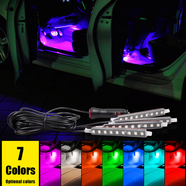 Shop2959103 Store car styling 12V Car RGB DRL Light Decorative Flexible Strip Atmosphere Lamp For acura RDX MDX NSX TLX ILX RLX
