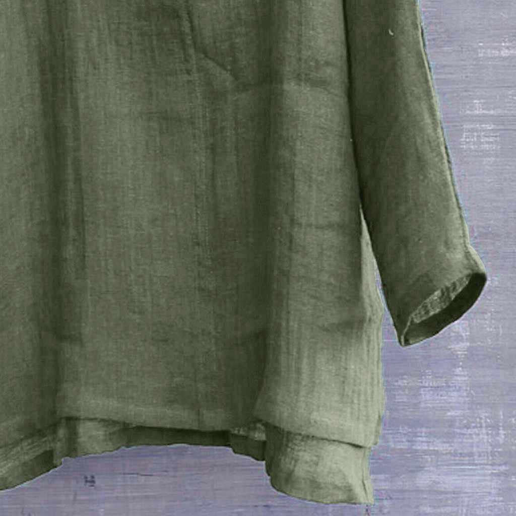 男性のシャツ夏カジュアルメンズシャツ長袖簡単な通気性の快適な無地長袖ルーズブラウスカミーサ masculina