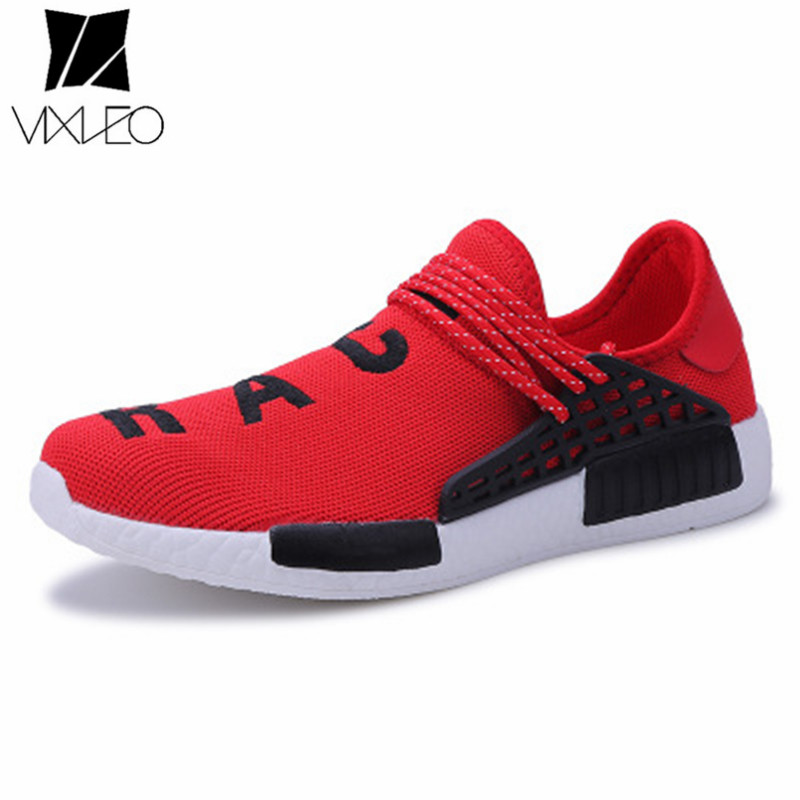 VIXLEO Unisex Running Shoes Lace Up Ultra Boosts Mesh Sport Superstar Shoes For Men Outdoor Sport human racer shoes Size 35-47