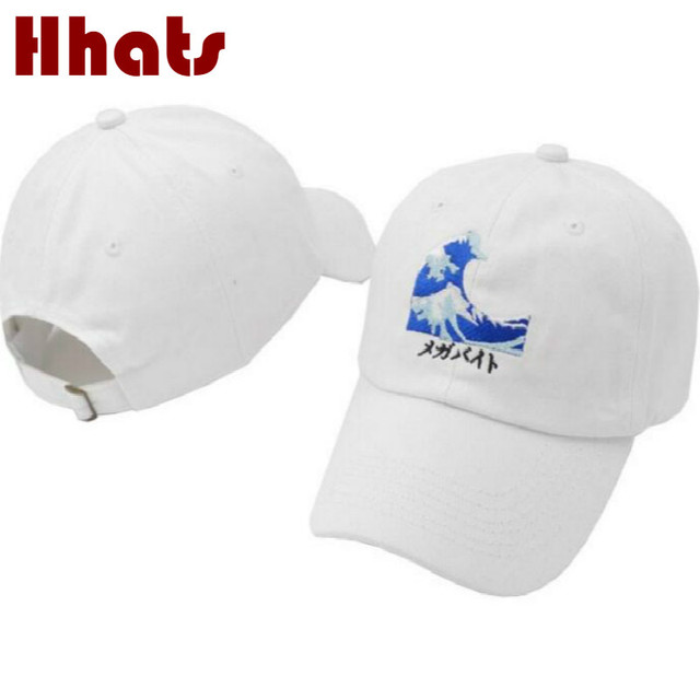 4d8c679e501 which in shower Black Pink White Embroidered Fashion Dad Hat Women Men Wave  Baseball Cap Hip