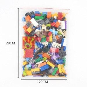 Image 5 - Ważenie zestaw klocków posiłek DIY kreatywny luzem cegły zabawki dla dzieci klocki edukacyjne dla dzieci prezent na boże narodzenie losowo 500g