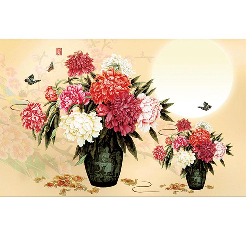 ღ Ƹ̵̡Ӝ̵̨̄Ʒ ღDIY diamante pintura increíble peonía florero patrones ...