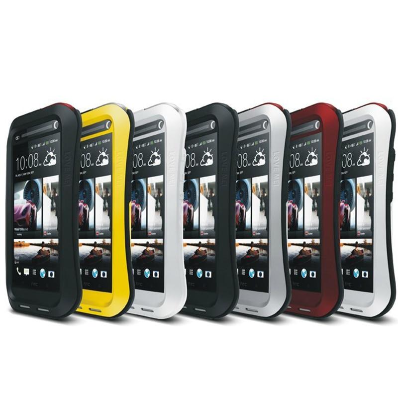 bilder für Leistungsstarke Fall für HTC One Max Wassergehäuse Dirt Stoßfest Abdeckung für HTC Gehärtetem Glas + Tough Metall + Silikon für HTC One Max