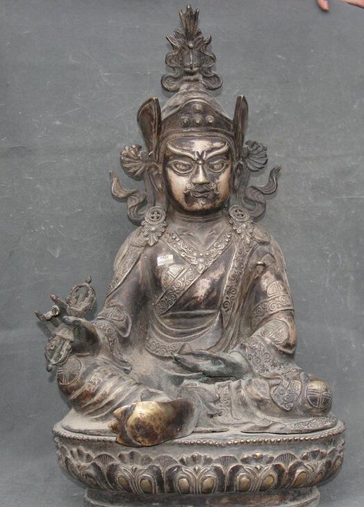 Details about  26 Tibet Temple Bronze Silver Seat Lotus Guru Padmasambhava Rinpoche Statue  Details about  26 Tibet Temple Bronze Silver Seat Lotus Guru Padmasambhava Rinpoche Statue