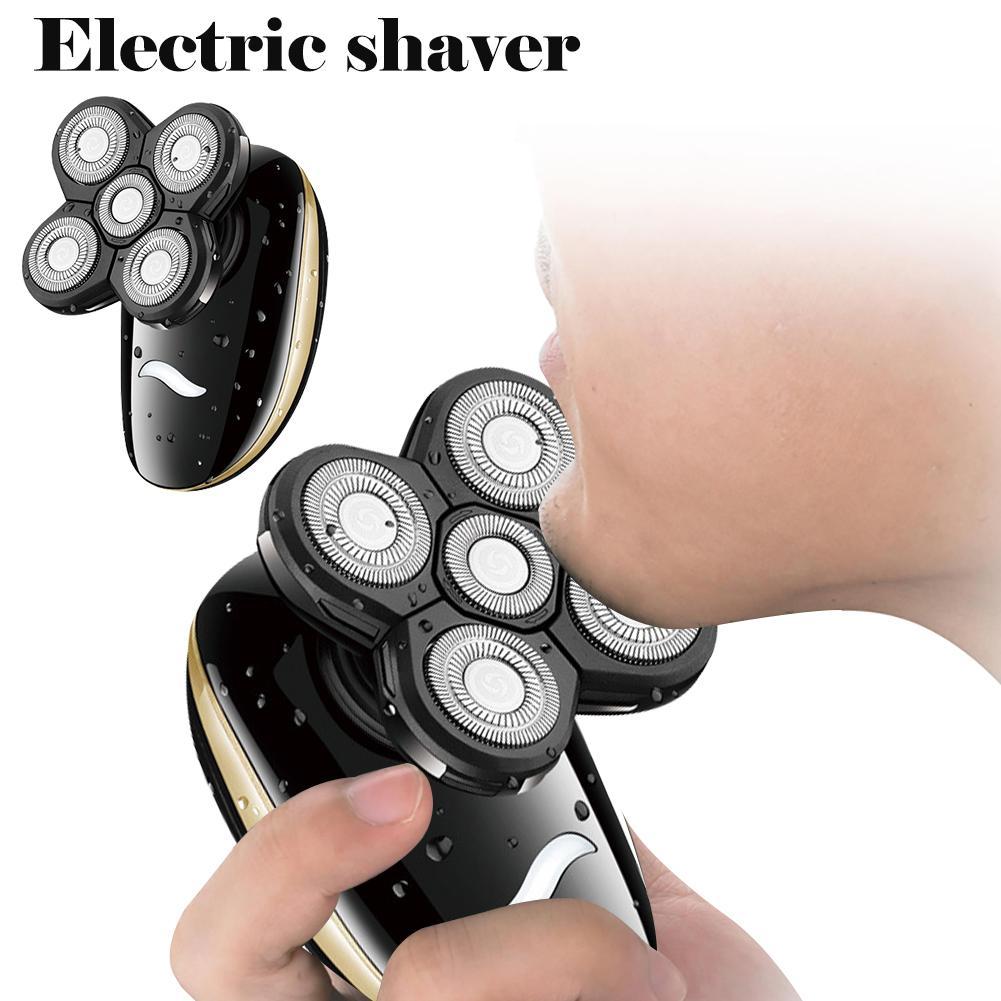 Rasoir électrique multifonctionnel 5 en 1 hommes rasoir barbe couteau nez coupe de cheveux nettoyant Clipper