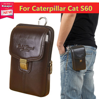 Luxury Genuine Leather Carry Belt Clip Pouch Waist Purse Case Cover For Caterpillar CAT S60 Mobile