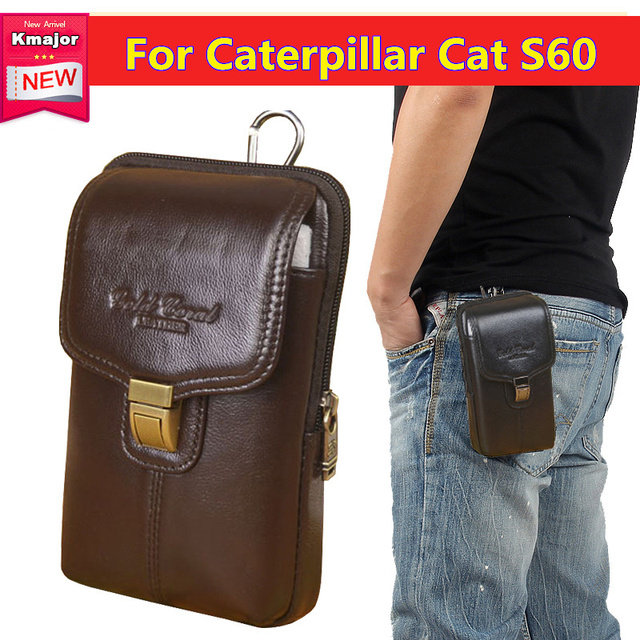 52267e6e01 Luxury Genuine Leather Carry Belt Clip Pouch Waist Purse Case Cover for Caterpillar  CAT S60 Mobile
