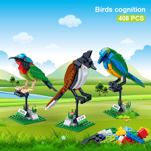 Image 2 - BanBao Building Blocks 3 Birds Set Animal Cognition Bricks with stickers Educational Toys Model for Kids Children Gift 5123
