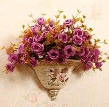 Fashion vase quality gorgeous wall flower holder resin craft wedding gift