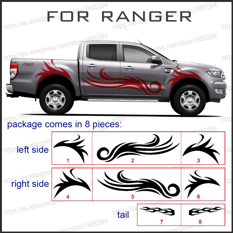 mudslinger fire cool body rear tail side graphic vinyl for ...