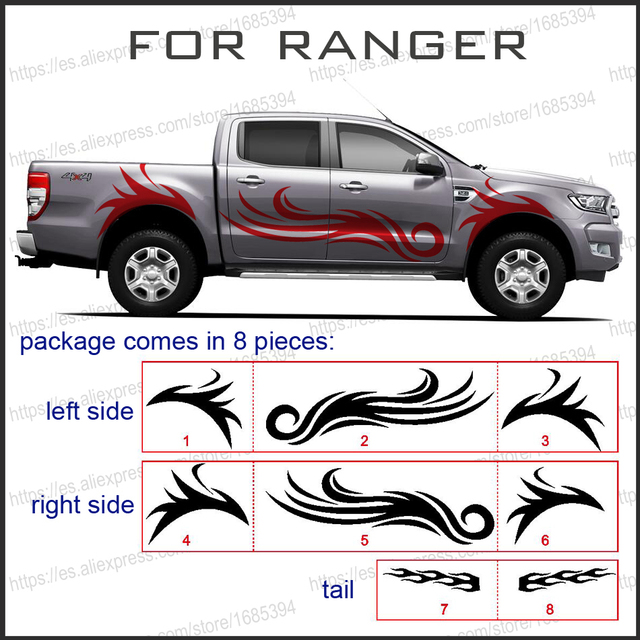 Mudslinger Fire Cool Body Rear Tail Side Graphic Vinyl For
