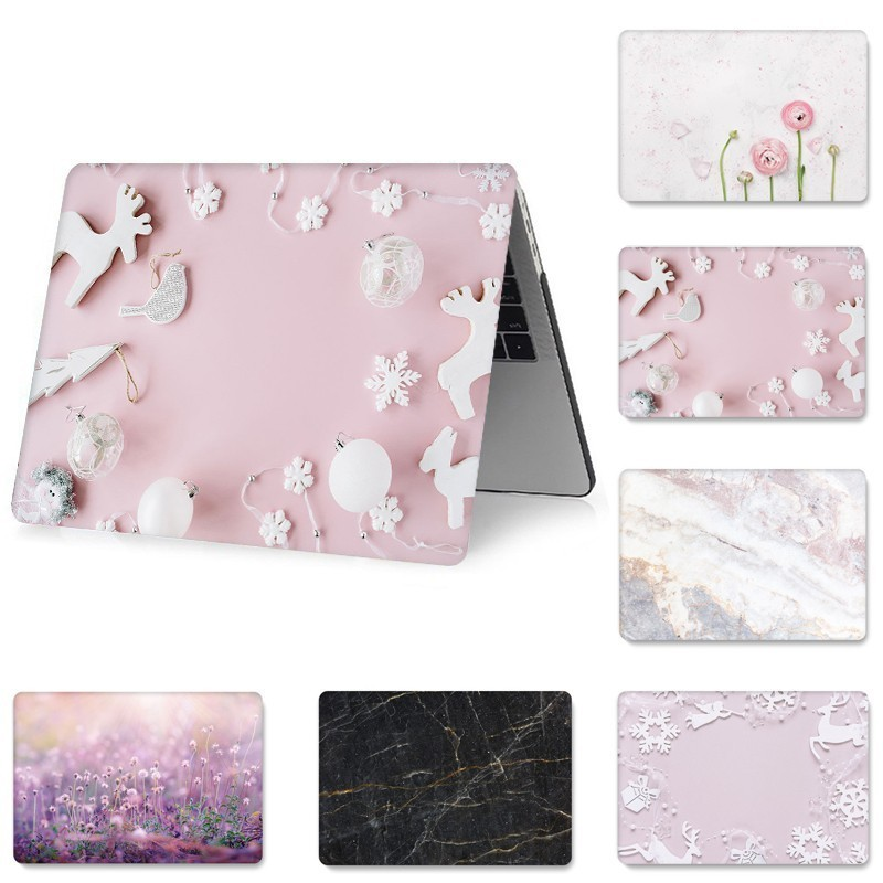for MacBook 11 12 13 15 inch Case A1706 1466 A1425 A1278 A1460 Protective Cover Floral Painted Full Cover Laptop Case for MacBoo-in Laptop Bags & Cases from Computer & Office