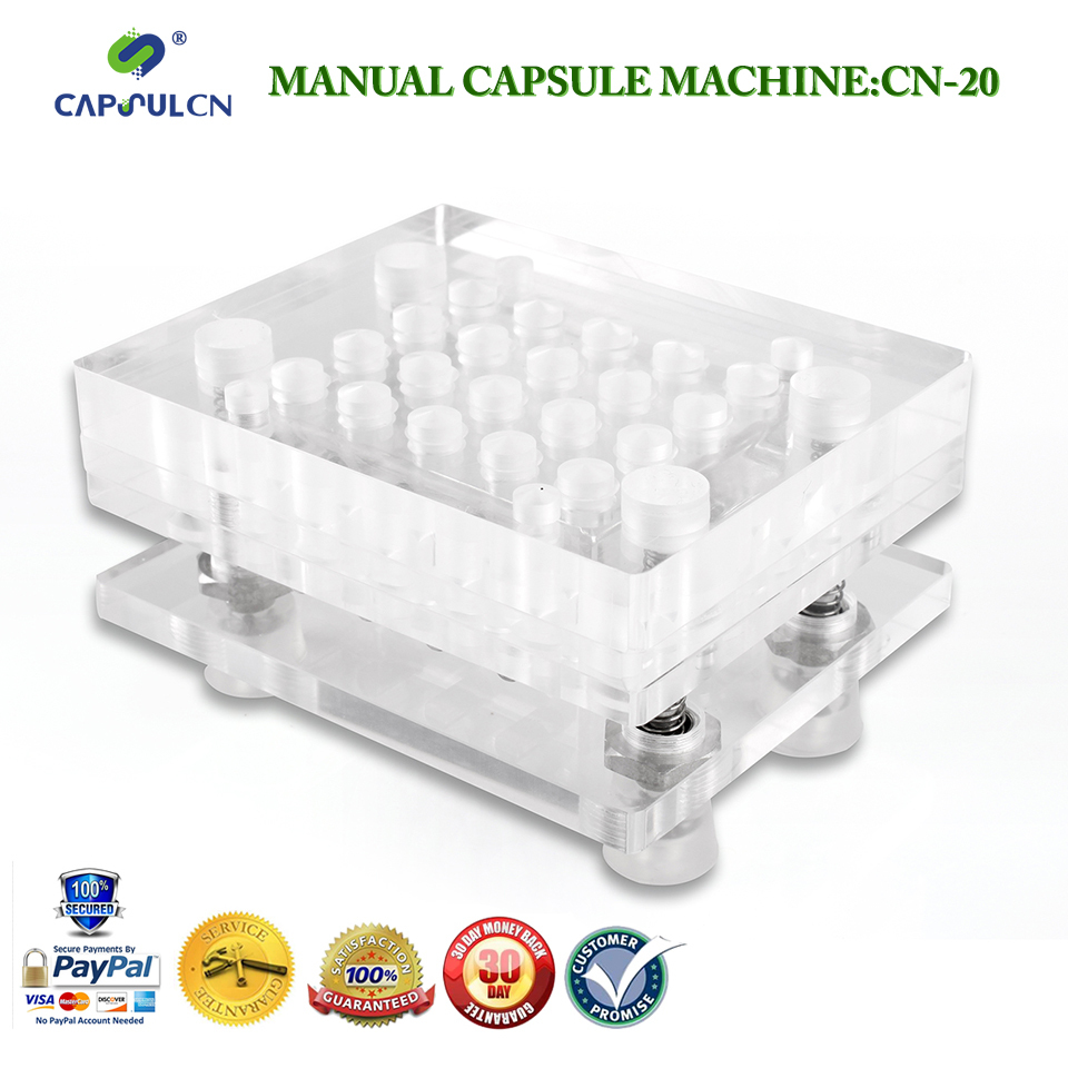 high quality 000 Manual capsule filler machines CN-20 customized for size 000 boom