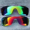 Inew polarized replacement lenses for Oakley Batwolf green and red