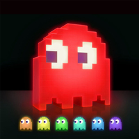 Led Mini USB Night Light Color Changing Cartoon PAC MAN Lamp 8 bit mood light Pixel Style Child Baby Soft Lamp Bedroom Lighting