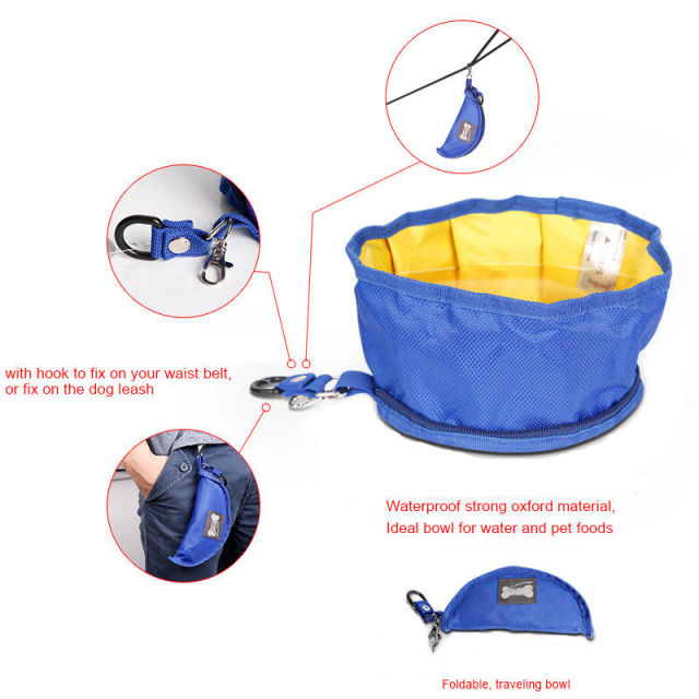 Collapsible Foldable Travel Dog Or Cat Bowl