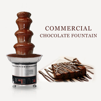 ITOP 150W Chocolate Fountain 4 Tiers Party Hotel Commercial Chocolate Waterfall Fountain CE Certificate 110V/220V/240V