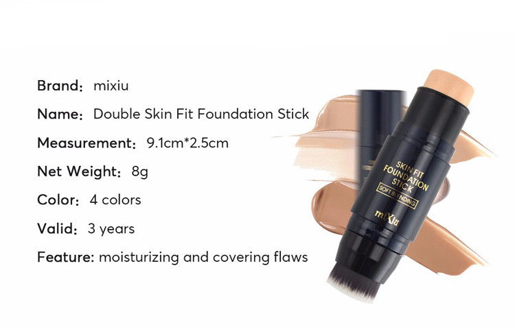 MIXIU Face Makeup Concealer Stick Long-wearing Waterproof Corrector And Brushes Highlighter Cream 4 Colors Concealer Pencil (3)