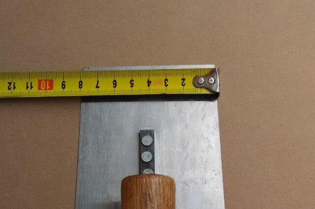 80*210mm stainless steel blade wooden handle round corner Plaster Gauging Trowel construction concrete spatula tool 1