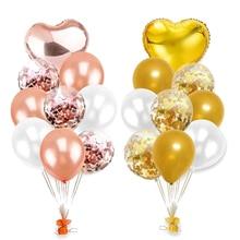 10 stücke Mischen Erste Glücklich Geburtstag Konfetti Luftballons Shower Party Dekoration 1st Baby Kinder Erwachsene Junge Mädchen My 1 Ein jahr Liefert