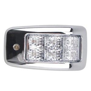 Image 3 - 1 çift 6LED Üst Lamba Beyaz Araba Iç kubbe ışık 24 V Kamyon için Römork Kamyon tekne Aksesuarları